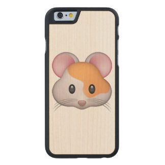 Hamster - Emoji Carved Maple iPhone 6 Case