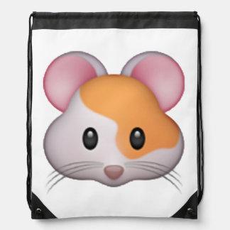 Hamster - Emoji Drawstring Bag