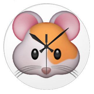 Hamster - Emoji Large Clock