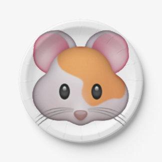 Hamster - Emoji Paper Plate