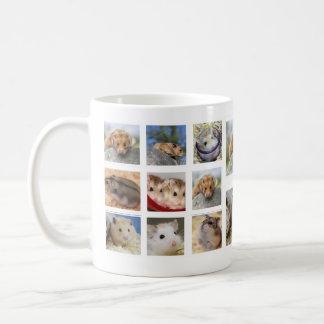 Hamster/Gerbil Collage Photo Mug (Round)