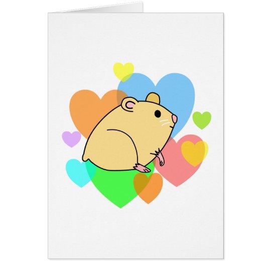 Hamster Hearts Card
