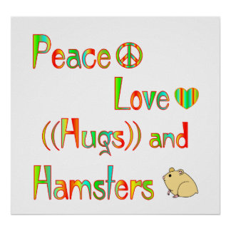 Hamster Hugs Poster