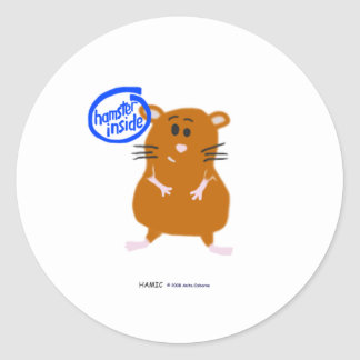 Hamster Inside Round Sticker