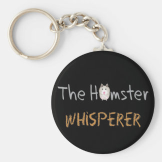 "Hamster Lover Gifts ""The Hamster Whisperer"" Basic Round Button Keychain"