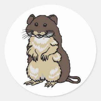 hamster merchandise classic round sticker