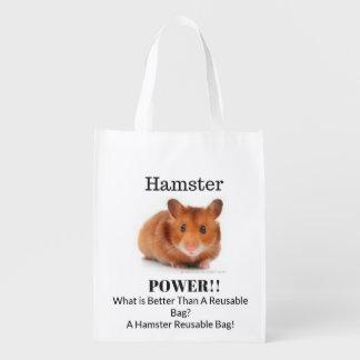 Hamster Power Reusable Bag! Reusable Grocery Bag