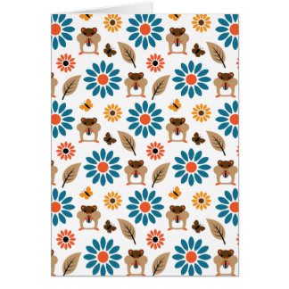 Hamster & Sunflower Seamless Pattern Card