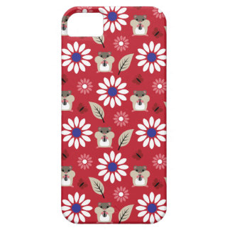 Hamster & Sunflower Seamless Pattern iPhone 5 Case