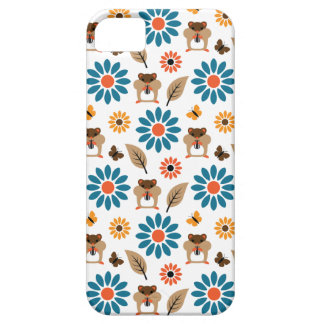 Hamster & Sunflower Seamless Pattern iPhone 5 Covers