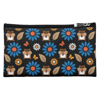Hamster & Sunflower Seamless Pattern Makeup Bag