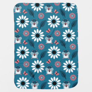 Hamster & Sunflower seamless pattern (ver.2) Baby Blanket
