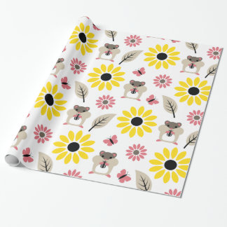 Hamster & Sunflower Seamless Pattern Wrapping Paper