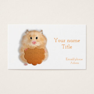 Hamster with biscuit bussiness card