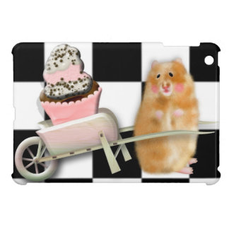 Hamster with cupcake iPad mini covers