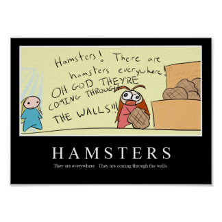HAMSTERS inspirational poster