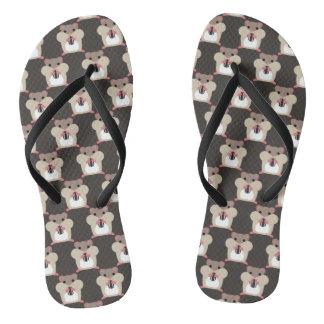 Hamsters seamless pattern flip flops
