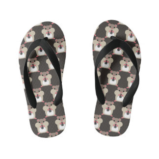 Hamsters seamless pattern kid's flip flops