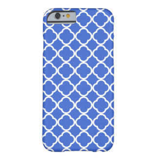 Han Blue Moroccan Quatrefoil Barely There iPhone 6 Case