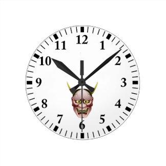 Han-nya Round Clock