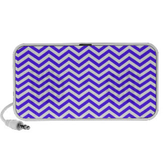 Han Purple Chevron Stripes Travel Speakers