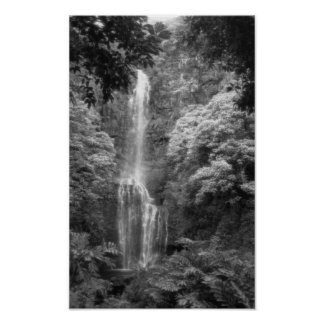 Hana Waterfall Poster