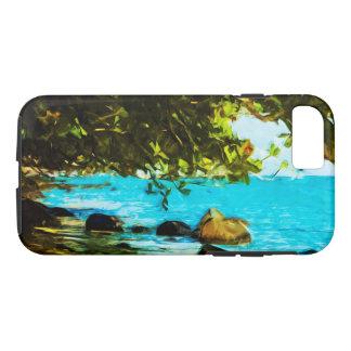 Hanalei Bay Kauai Abstract Impressionism iPhone 7 Case
