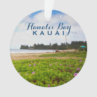 Hanalei Bay, Kauai Hawaii 2 Photo Ornament