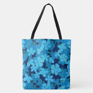 Hanalei Hawaiian Hibiscus Camo Floral Beach Bag