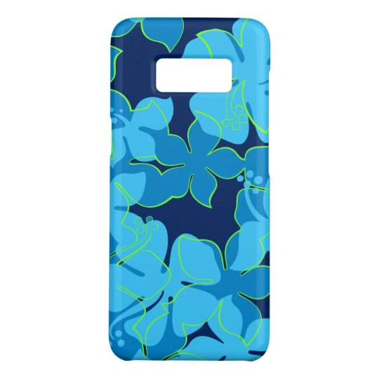 Hanalei Hawaiian Hibiscus Floral Blue Case-Mate Samsung Galaxy S8 Case