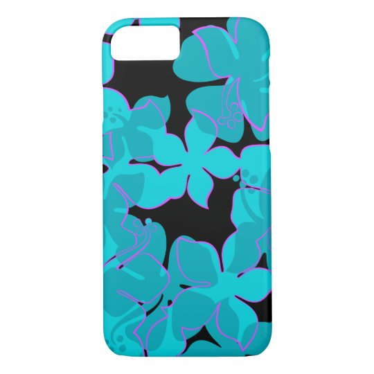 Hanalei Hawaiian Hibiscus Floral Teal iPhone 8/7 Case