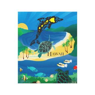 Hanauma Bay Hawaii Dolphin and Turtle Canvas Print