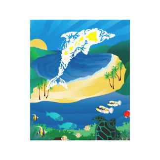 Hanauma Bay Hawaii Dolphin Canvas Print