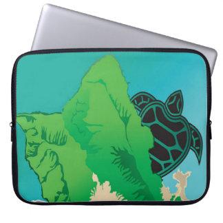 Hanauma Bay Hawaii Green Sea Turtle Laptop Computer Sleeves