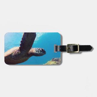 Hanauma Bay - Hawaii Green Sea Turtles Luggage Tag