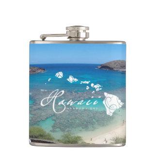 Hanauma Bay Hawaii Islands Hip Flask