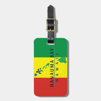 Hanauma Bay Hawaii Islands Turtle Luggage Tag