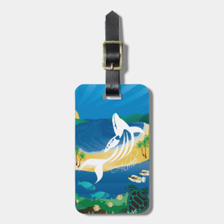 Hanauma Bay Hawaii Islands Whale Luggage Tag