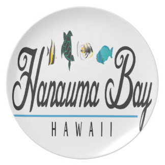 Hanauma Bay Hawaii Marine Life Party Plates