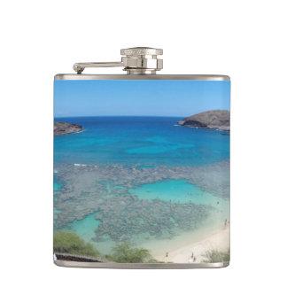 Hanauma Bay Hawaii Nature Preserve Hip Flask