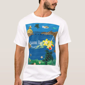 Hanauma Bay Hawaii Plumeria Flower T-Shirt