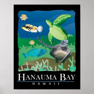 Hanauma Bay Hawaii Sea Turtle Posters