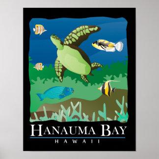 Hanauma Bay Hawaii Sea Turtle Print