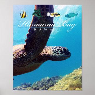 Hanauma Bay Hawaii Sea Turtle Poster