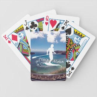 Hanauma Bay Hawaii Stand Up Paddle Bicycle Playing Cards