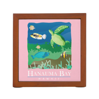 Hanauma Bay Hawaii Turtle Desk Organizer
