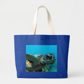 Hanauma Bay Hawaii Turtle Large Tote Bag