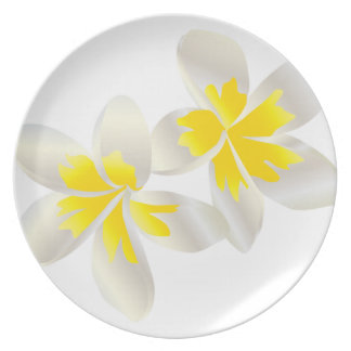 HANAUMA BAY HAWAII Yellow Plumeria Plates