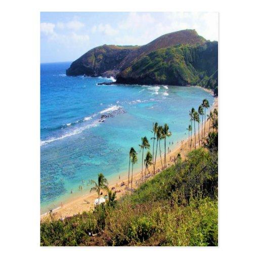 Hanauma Bay, Honolulu, Oahu, Hawaii View Post Card