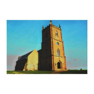 Hanbury Church Canvas Print